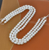 Wholesale Oval Pearl Beads Loose - New Noble Natural Fresh Water Loose Pearl Beads 5-6MM Fine Wedding Jewelry High Quality for Wholesale Free Shipping