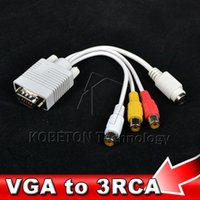 G VGA zu TV Konverter S-Video RCA-Kabel-Adapter für die Xbox 360 Laptop Notebook Tablet PC
