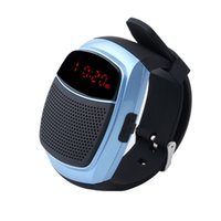 Wholesale seals watch - Wholesale- New Hot Sports Bluetooth Speaker Hands-free Call TF Card Playing FM Radio Self-timer Wireless Speakers Smart Watch Time Display
