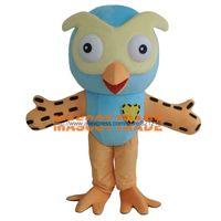 Wholesale New Style Mascot Costumes - Wholesale-2016 Hot Sale Professional New Style Big Blue Owl Mascot Costume Fancy Dress Adult Size