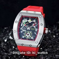 Wholesale Cheap Tourbillon Watch - Super Clone Luxury Brand Cheap New RM036 RM36 JEAN TODT Limited Edition Power Reserve Tourbillon Automatic Mens Watch Red Rubber Starp