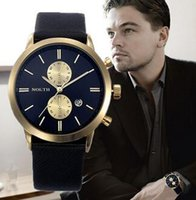 mens relógios de pulso venda por atacado-Mens Relógios Top Marca de Luxo Relógio de Quartzo Casual Couro Relógio de Pulso Esportes Montre Homme Masculino Relógio relogio masculino