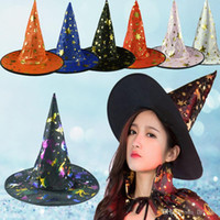 Wholesale Party Select - Wholesale Children Halloween witch hat mage cap 7 color mage style you can select free shipping