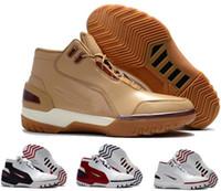 Wholesale Heat James - Latest Air Zoom Generation As Qs Basketball Shoes Men Yellow LBJ MVP LB Lebro James Trainers Shoe Mens Man Zapatilla Sport Authentic Sneaker