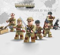 Wholesale Ww2 Soldier - 6pcs set World War 2 WW2 Military Campaign Soldiers Amy Building Blocks Bricks Sets Model Toys Children Gift