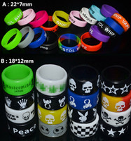 Wholesale Only Plastic - Only $10 !! Free Shipping 50Pcs Mix Width 7mm 12mm Vape Bands Newest Ecig Accessories For Mech Mod RDA Silicon Rings Anti Slip Vapor Bands