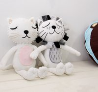 Wholesale 16X33cm Sweet Baby Toys cartoon animals Lion Cat Shape Dolls Kids girl boy Room Bed Decoration Birthday Gift Size