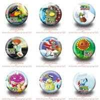 Wholesale Plants Vs Zombies Clothing - Plants vs Zombies Cute Pins Buttons Brooches Round Badges 3.0CM Diameter Clothing Bags Accessories Children Birthday Party Gifts