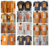 Pas cher Tennessee Volontaires Hommes Jersey 16 Peyton Manning 11 Joshua Dobbs 1 Jalen Hurd Hommes Maillots Football
