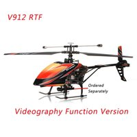 Wholesale Large Electric Remote Helicopters - RC Helicopter WLtoys V912 Large 52cm 2.4Ghz 4Ch Single Blade Remote Control RC Helicopter Gyro RTF KIDS Gift High Quality