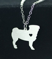 Wholesale Selling Stainless Steel Necklace Chain - Manufacturers selling 2016 new pendant pug puppy Animal stainless steel fashion han edition necklace chain necklace clavicle