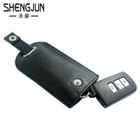 Wholesale Men Cow Bag - Wholesale-High Quality Cow Leather Key Wallet Auto Car Keys Cases Men Real Leather Hasp Key Holder Women Housekeeper Key Pouch Bag YSB-019