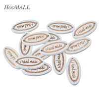 Wholesale Handmade Wooden Buttons - Hoomall 50PCs Natural Wooden Buttons 2 Holes Sewing Buttons Handmade Letter Carved Scrapbooking Crafts DIY 2.7x1.3cm order<$18no track