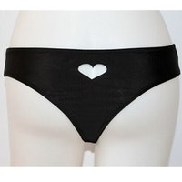 Wholesale Lycra Swim Bottoms Wholesalers - Wholesale-Black Swim Shorts Bikini Bottoms Brazilian Bottom Swimwear Thong Wear Swim Trunks Swimsuit Beach Black Womens Swim Shorts Heart