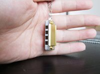 Wholesale Music Wholesalers Instruments - NO LOGO Hot Sell Swan Mini Harmonica 4 holes 8 tones mini harmonica necklace ,music instrument not only a toy, it's real works
