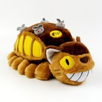 Creative Luminous Animação de desenhos animados Totoro Bus Plush Toy Totoro Boneca recheada Soft Plush Doll Kids Children's Gift