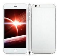 Wholesale Digital Tv Phone Dual Sim - Real fingerprint Goophone i6 Plus i6S Quad Core MTK6582 6S 1.3GHz 1GB + 8GB 16GB 32GB Android 4.4 4.7 inch 1280*720 HD Smart Phone 8pcs