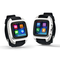 Wholesale Dual Sim Cell Phone Watch - X02 MTK6572 Dual core Android system smart watch mobile cell phone with camera GPS Wifi WCDMA 3G support SIM card micro SD whatsapp