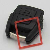 llave del coche opel en blanco al por mayor-Cáscara de la llave del coche de alta calidad para Opel 2 botón remoto clave en blanco caso FOB clave cubierta envío gratis