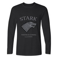 Cornflower Stark Winter sta arrivando Game of Thrones Funny Mens manica lunga Tee Round Neck Camicia in cotone naturale più venduta TOP TEE