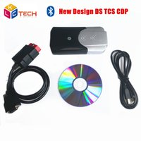 Wholesale Top Rated Car Diagnostic Tool - Wholesale-2016 Top Rated newest Design 2014.2 2015.3 With Bluetooth Function Auto OBD2 Diagnostic Tool TCS CDP New VCI For Cars and Trucks