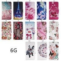 Wholesale Silicone Butterfly Iphone Cases - Flower Wallet PU Leather Case Stand Pouch ID Card Money Butterfly For Iphone 6S 6 Plus SE 5 5S Samsung Galaxy NOTE 5 S5 S7 S6 EDGE PLUS Skin