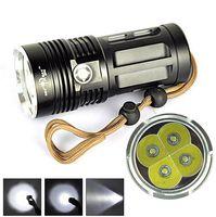 Wholesale cree skyray led - Super Bright Skyray King 6000 Lumen 4x CREE XM-L XML 4x T6 LED Flashlight Lamp High Power Torch