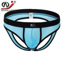 Wholesale Hom Underwear Briefs - Mens Briefs Hollow Out Hip Underwear 2016 Cotton Spandex Transparent Brief For Hom Underwear Man Undershorts