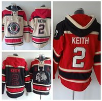 Wholesale Can Sweatshirts - #2 Duncan Keith Hoodies Sweatshirts Beige Black Red Stitched Logo Embroidery Hockey Hoody Recommend Size M-XXXL Can Mix Order