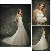 Wholesale Divina Wedding Dress - Strapless Sweetheart Neckline Hand Beaded Organza Mermaid Custom Made 16228 N24 2016 Divina Sposa Bridal Dresses Wedding Gowns