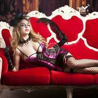 Wholesale Lingerie Femme Sexy Black - 9781 2017Women Sexy Lingerie Costumes Sexy Underwear Sets Erotic Lingerie Porn Babydoll Chemise Femme Sets With Gift Box