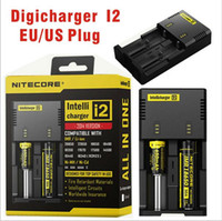 Wholesale Retail Display Package - Hot! Nitecore I4 I2 Digicharger LED Display Battery Charger Universal Nitecore Charger & Charging Cable & Retail Package
