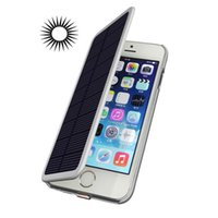 Wholesale Battery Powered Cell Phone Case - 4200mAh Rechargeable Battery Solar Powered External Backup Battery Case for iPhone 6plus 6S plus 5.5inch Cell Phone Power Case