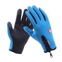 Wholesale windproof gloves for touch screen for sale - Group buy Touch Screen Windproof Gloves For Men Women guantes luva Winter Windstopper Waterproof Gloves HO883374