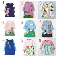 Wholesale Brand Baby Princess Dress - Robe Enfant Girl Dress Kids Clothes 2017 Brand Autumn Princess Dress Baby Tunic Animal Appliques Girls Jersey Dresses Children
