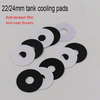 Wholesale Heat Sink Cooler - Heat Sink Adaptor Cooling Pads PC Protective Sheet Heatsink Adapter for 510 Thread Bottom Attached 22mm 24mm Connector for Tank Vape RDA RBA