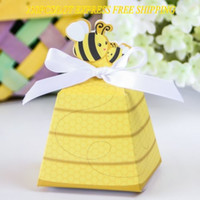 Wholesale Shower Favor Box - 250PCS LOT Quality Guarantee Adorable baby birthday party favor box of Bee box for Baby shower favors and Wedding gift box Free shipping