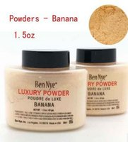 Wholesale Dark Bottles - Ben Nye Banana Luxuary Powder 1.5oz Bottle Luxury Face Makeup 42 gm Waterproof Nutritious Banana Brighten sealed and with serial number