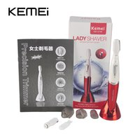 Wholesale Trimmer Line Wholesale - Kemei XL-8188 Women Shaver Waterproof Female Shaving Epilator For Bikini Line Armpit Eyebrow Titanium Blade 2 Colors Hair Trimmer 0606013