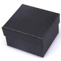 Wholesale Wholesale Pillow Case For Sale - Wholesale-Hot Sale Nice Paper Watch Box With Pillow Packing Black Gift Box for watches Case Cheap Price