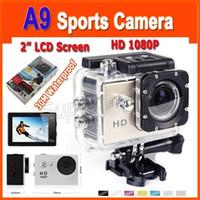 Wholesale mini outdoor waterproof action camera resale online - EKEN A9 P HD Action Camera M Waterproof Mini Action Outdoor Sports Cam Lens Action Sport Video Camera Diving