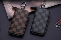 Wholesale Zipper Pouch Designer - 4 color KEY POUCH Damier leather holds high quality famous classical designer women key holder coin purse small leather goods bag
