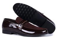 Wholesale Shoes Form - Hot Sale Oxford Shoes For Men Casual Form Men Dress Shoes Autumn Breathable Oxfords Shoes Slip on Black Brown Size 40-47