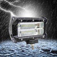 luz de trabalho ip68 venda por atacado-Barra clara 72W 5 do diodo emissor de luz do ponto / trabalho da inundação 5 IP68 Voiture para todo o carro que denomina a luz do trabalho da lâmpada do diodo emissor de luz de Automotivo