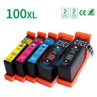 Wholesale Inks Cartridge Lexmark - ZH 5 PCS Ink Cartridges LM100XL Compatible for Lexmark LM100 LM105 LM108 XL 100 105 108 Printer