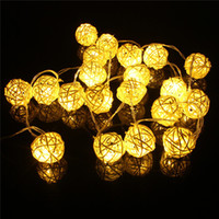 Wholesale Cheap Led String Lights - Cheap christmas light deer 4M LED Rattan 10 Balls LED String Light Fairy Lanterns Wedding Outdoor Decor christmas decoration