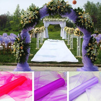 Wholesale Sheer Fabric Wedding Decoration - Wholesale Wedding Supplies Decoration 1.5m Width 18 Colours Sheer Mirror organza Fabric For Wedding Drape Decoration