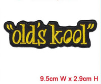 Wholesale China Manufactory - Old kool embroidery patch with words hot cut border Iron on accessories good quality manufactory in China can be customized