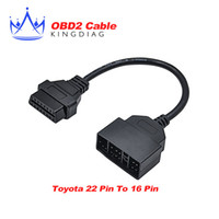Wholesale Diagnostic Tool Adapter Connector Obd - Wholesale-Toyota 22 Pin To 16 Pin Female OBD 2 Cable toyota 22pin Connector Adapter Cable Car Diagnostic Tool