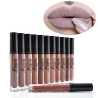 ingrosso lingerie lunghe-Nuovi 12 colori Ny xLipstick Lip Lingerie Matte Liquid Lipstick Waterproof Lip Gloss Long Lasting Rossetto trucco Maquillage